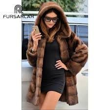 <b>FURSARCAR 2018 New Arrival</b> Luxury Natural Mink Fur Coats For ...