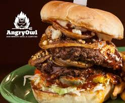 <b>Black</b> & Bleu Burger - Picture of <b>Angry Owl</b> Southwest Grill & Cantina ...