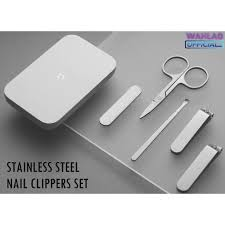 Xiaomi <b>Mijia</b> Stainless Steel <b>Nail</b> Clippers Set Trimmer Pedicure ...