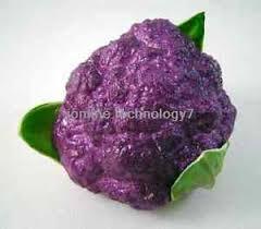 1x Artificial <b>Purple Broccoli</b>,<b>PU</b> Decorative Fruit Vegetables house ...