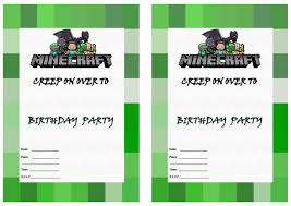 minecraft birthday invitations birthday printable minecraft birthday invitations