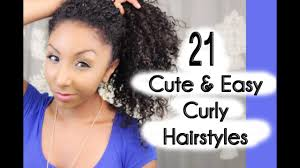 21 Cute and Easy <b>Curly</b> Hairstyles! | BiancaReneeToday - YouTube