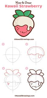 <b>Step</b>-by-<b>step</b> tutorial to draw an easy and cute, kawaii <b>strawberry</b> ...