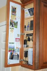 cabinet end charging station and key rack charging station kitchen central office