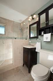 blue office walls bathroom traditional with tile shower mirrored storage blue office walls