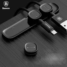 <b>Baseus Magnetic Protector</b> Cable Clip Desktop Tidy Cable ...