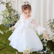 2019 <b>2018 Lovely Lace Appliqued</b> Tulle Flower Girls Dresses V ...