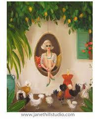 Extraordinary Chickens. <b>Art</b> Print (с изображениями)   Картины ...