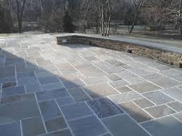 stone patio installation: blue stone patio paver patio installation