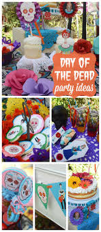 A gorgeous party celebrating the Day of the Dead with <b>bright colors</b> ...