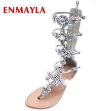 <b>ENMAYLA New</b> Arrival PU Gladiator Woman Sandals 2019 <b>Summer</b> ...