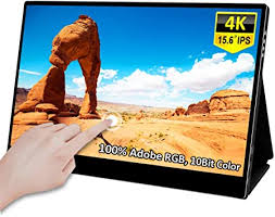 Portable <b>4k Touchscreen</b> Monitor,<b>15.6 inch Uhd</b> On-The-Go Dual ...