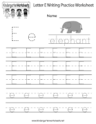 alphabet handwriting practice kindergarten english writing letter e writing practice worksheet kindergarten english beginning worksheets for prin writing worksheets for kindergarten