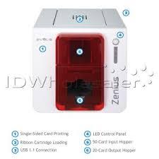 <b>Evolis Zenius Classic</b> ID Card Printer Single-Sided - Fire Red