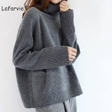 <b>Lafarvie 2019</b> New Cashmere Blended Knitted Sweater Women ...