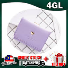 4GL <b>Korean Fashion Fold</b> Over Short <b>Women</b> Purse AX16 | Shopee ...