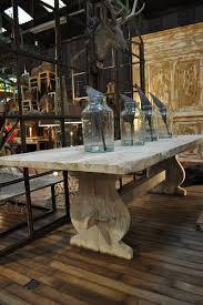 nook trestle table farmhouse dining oak kitchen