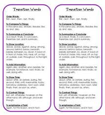 what is a transition sentence in an essay transitions essays discourse markers  connectors  adverbs words and transition words free printables