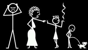 Dysfunctional <b>Stick Figure Family</b> vinyl decal ~ email me at ...