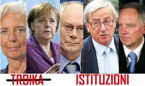 Risultati immagini per la troika europea