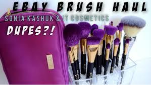 ebay brush haul sonia kashuk it cosmetics dupes