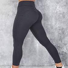 Andydu High Elastic Yoga <b>Pants Women Sport Leggings Tights</b> Slim ...