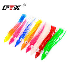 FTK 5 <b>15 pieces</b> Luminous Rubber Squid Skirts 9/12cm Octopus ...
