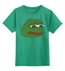 Детская футболка классическая унисекс <b>Лягушонок Пепе</b> #2406708
