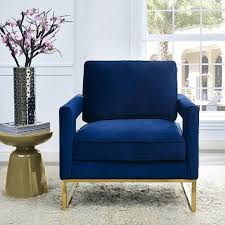 Navy Living Room Chair Living Room Chairs Modern Chairs Upholstered Chairs Velvet