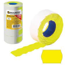 <b>Этикет</b>-<b>лента 26х16 мм</b>, волна, желтая, комплект 5 рулонов по ...