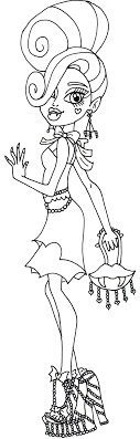 Small Picture Best Coloring Pages Monster High Venus Images Coloring Page