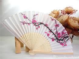 <b>DHL Free</b> Shipping <b>100pcs</b>/<b>lot</b> cherry blossom silk hand fan ...