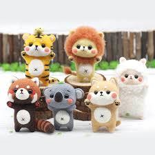 <b>Jiwuo Wool Felt</b> Poke Handmade DIY Animal Alpaca Shiba Inu ...