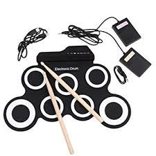 XuBa <b>Portable Electronic</b> Drum Digital USB 7 Pads Roll: Amazon.in ...