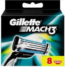 For Gillette mach 3 <b>8pcs</b>/<b>pack Men's</b> Safety <b>Razor Blades</b> | eBay