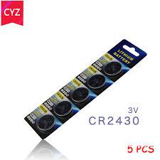 Buy new <b>5pcs</b> Pack CR2430 <b>3V</b> Button Coin Cell Battery Car ...