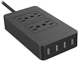 Aardich <b>Multi</b>-<b>port</b> USB Power <b>Socket</b> Multi-Plug Outlet Surge ...