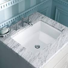 ideas bathroom sinks designer kohler: kohler archer vitreous china undermount bathroom sink with overflow drain in white with overflow drain k   the home depot