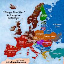 '<b>Happy New</b> Year' in European languages