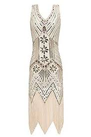 Metme Women's Flapper Dress 1920s V <b>Neck</b> Beaded Fringed ...