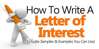 how to write a letter of interest  sample included