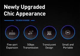 <b>USB</b>-<b>концентратор Baseus Transparent</b> Series Dual Type-C ...