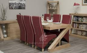 chunky oak dining table seater