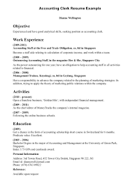 clerk job resume template clerk microsoft accounting cover letter gallery of s clerk job description