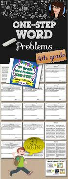 best images about mathematics galore math one step word problems 4th grade