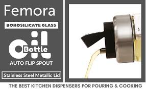 Buy Femora <b>High Borosilicate Glass</b> with <b>Auto</b> Flip Stainless Steel ...
