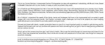 camilo ramirez photographer bio and contact