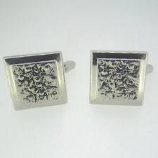 men cuff links alphabet single letter black bottom silver plated wedding party vintage 16mm cufflink