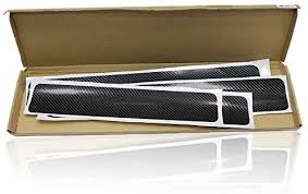 LOL lo <b>4 Pcs</b>/<b>Set</b> 3D Black Carbon Fiber Style <b>Car Door</b> Sill Sticker ...