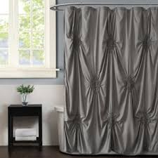 Christian Siriano® Georgia Rouched Shower Curtains | Bed Bath ...